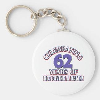 62 year old designs keychain