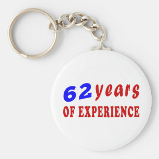 62 years of experience keychain