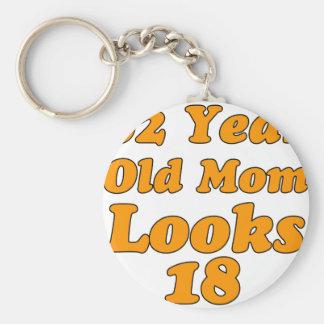62 years old birthday design key chains