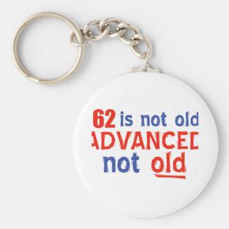 62 years Old birthday designs Keychains