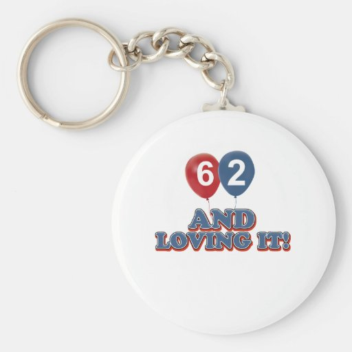 62 years Old birthday designs Key Chains