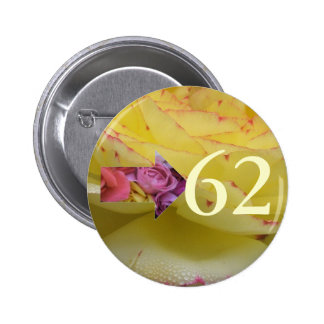 62nd Birthday Party Favour Pin Button