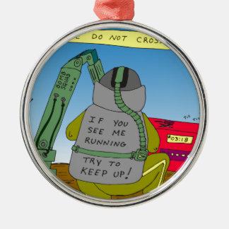 632 bomb squad run cartoon christmas ornament
