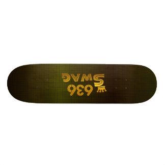 636 Area Code Swag 21.3 Cm Mini Skateboard Deck