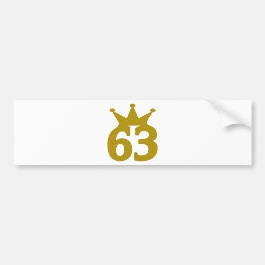 63-crown bumper sticker