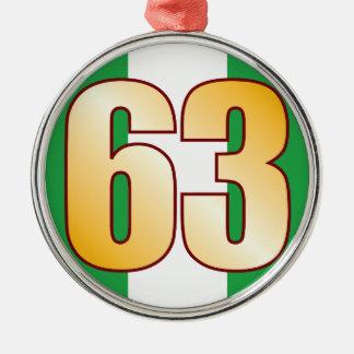 63 NIGERIA Gold Christmas Ornament
