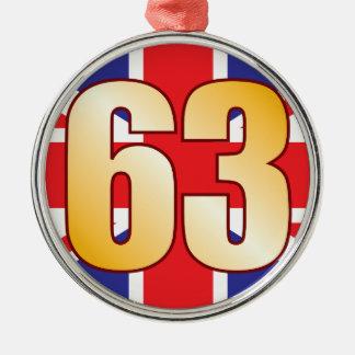63 UK Gold Christmas Ornament
