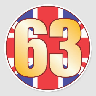 63 UK Gold Classic Round Sticker