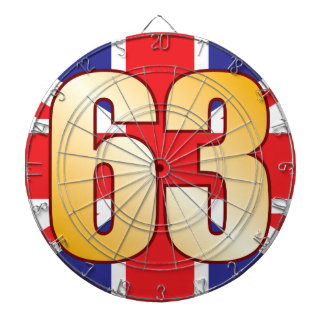 63 UK Gold Dartboard