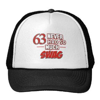 63 year old birthday designs cap