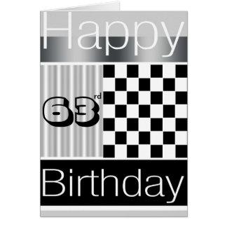 63rd Birthday Greeting Card