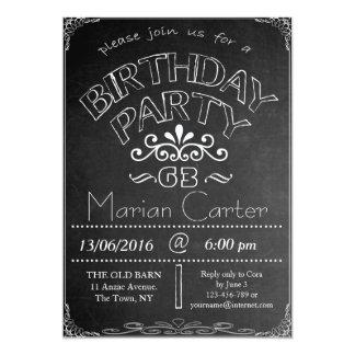 63rd Chalkboard Birthday Celebration Invitation