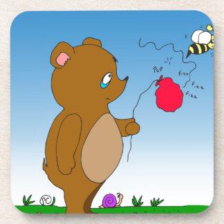 643 bee pops bears balloon cartoon beverage coaster