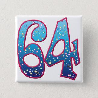 64 Age Rave 15 Cm Square Badge