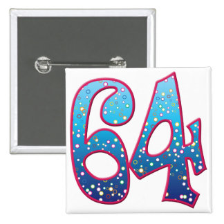 64 Age Rave 15 Cm Square Badge