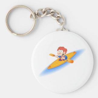 64_boy_paddler basic round button key ring