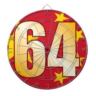 64 CHINA Gold Dartboard