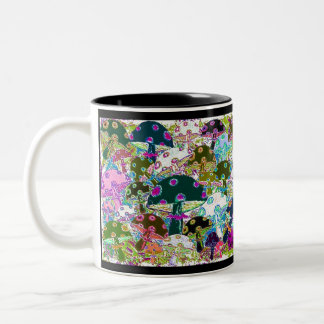 64 Mushrooms 5 Two-Tone Coffee Mug
