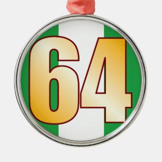 64 NIGERIA Gold Silver-Colored Round Decoration