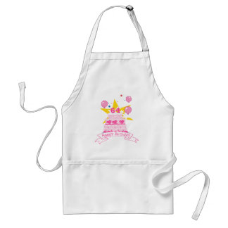 64 Year Old Birthday Cake Standard Apron