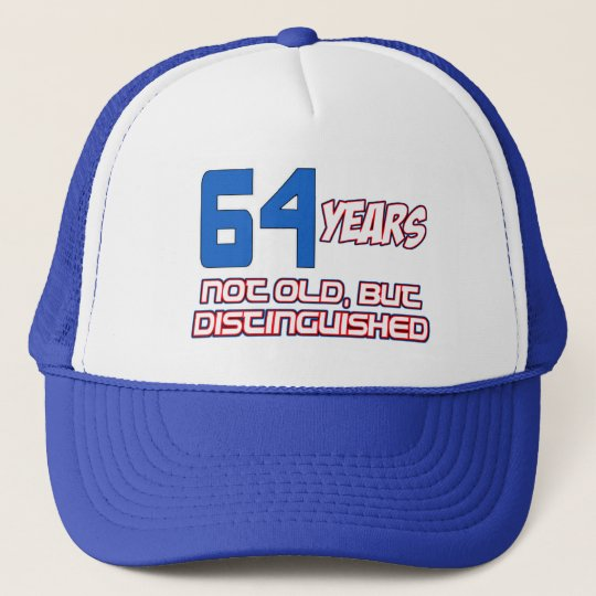 64 YEARS OLD BIRTHDAY DESIGNS CAP