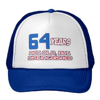 64 YEARS OLD BIRTHDAY DESIGNS CAP