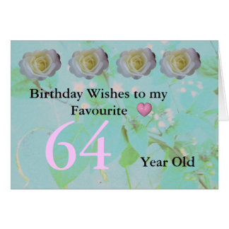 64th Birthday Wishes Greeting Card