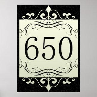 650 Area Code Print