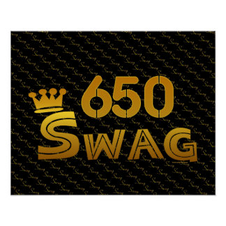 650 Area Code Swag Posters