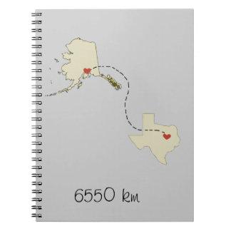 6550 km spiral notebook