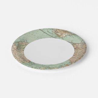 65 Denmark, Iceland Paper Plate