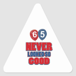 65 never looked so good triangle sticker
