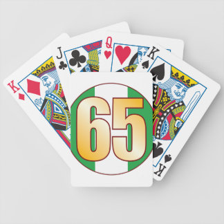 65 NIGERIA Gold Bicycle Playing Cards