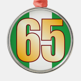 65 NIGERIA Gold Christmas Ornament