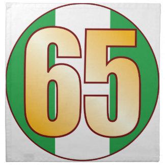 65 NIGERIA Gold Napkin