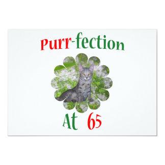 65 Purr-fection 13 Cm X 18 Cm Invitation Card