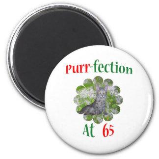 65 Purr-fection 6 Cm Round Magnet