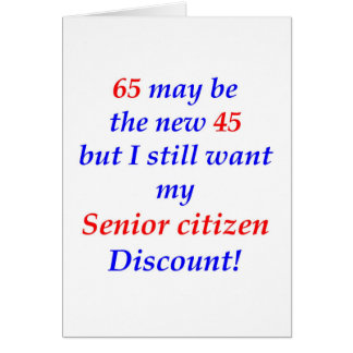 65 Senior Citizen Card
