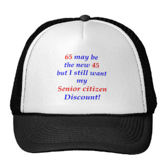 65 Senior Citizen Trucker Hats