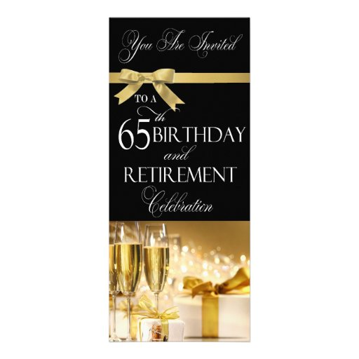 65 th Birthday Retirement Combination Invitation