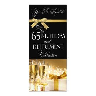 65 th Birthday Retirement Combination Invitation