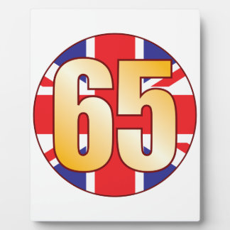 65 UK Gold Plaque