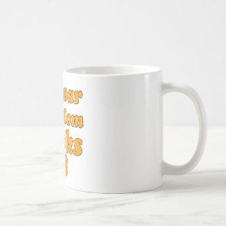 65 year old birthday design basic white mug