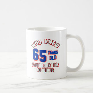 65 year old design basic white mug