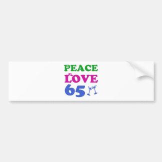 65 year old design bumper sticker