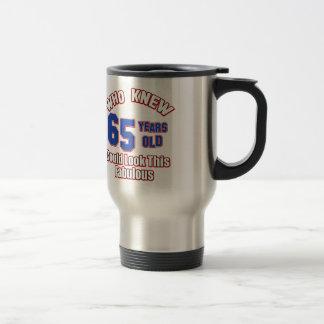 65 year old design mug