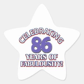 65 year old design star sticker