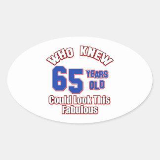 65 year old design sticker