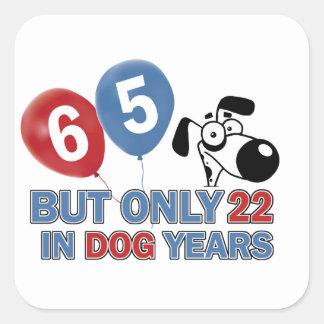 65 year old design square sticker
