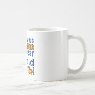 65 year old looks like basic white mug